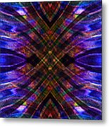 Feathered Stained Glass Metal Print