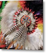 Feathers And Beads Metal Print