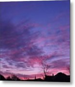 February Clouds Metal Print