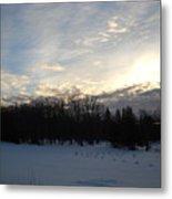 February Dawn Clouds Metal Print