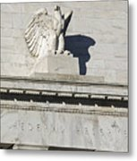 Federal Reserve Eagle Detail Washington Dc Metal Print by Brendan Reals