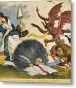 Federalist Cartoon, C1799 Metal Print