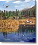 Feeding The Ducks Metal Print