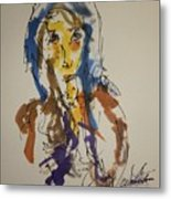 Female Face Study T Metal Print