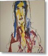 Female Face Study U Metal Print