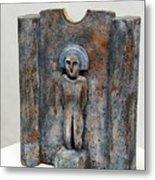 Female Figurine - Goddess Worship - Matrone - Matrones -matronen - Matrona - Diosa-nettersheim Eifel Metal Print by Urft Valley Art