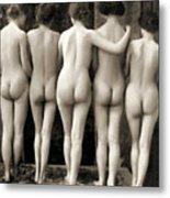 Female Nude Quintet Metal Print