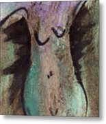 Female Nude Torso 1 Metal Print