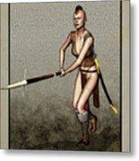 Female Pike Guard - Warrior Metal Print