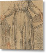 Female Saint (saint Clare Of Assisi Or Saint Catherine Of Siena?) Metal Print