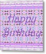 Feminine Lavender Birthday Card Metal Print
