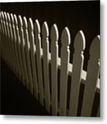 Fence Bw Metal Print