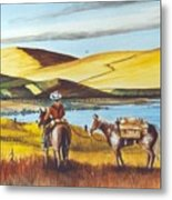 Fence Rider Going Home Metal Print