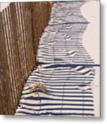 Fence Shadow Metal Print