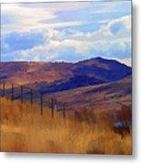 Fence Views Wyoming Color Metal Print