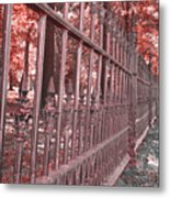 Fenced In Red Metal Print