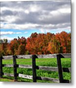 Fences, Fields And Foliage Metal Print