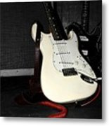 Fender Guitar And Amp In Selective Color Metal Print