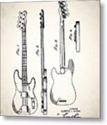 Fender Precision Bass Patent 1952 Metal Print