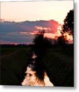Fenland Sunset Metal Print