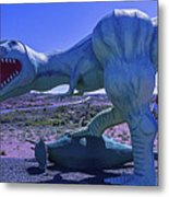 Ferious Dinosaur Trex Metal Print