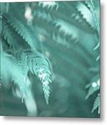 Fern Leaves Abstract 4. Nature In Alien Skin Metal Print