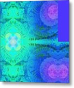 Ferns 2j Hotwax 3 Fractal Plus Metal Print