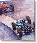 1964 Ferrari 158 Vs Brabham Climax German Gp 1964 Metal Print