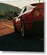 Ferrari 288 Gto At Sunset - 5 Metal Print