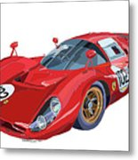 Ferrari 412p 330 P4 1967 Le Mans Metal Print