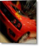 Ferrari Action Metal Print