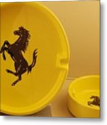 Ferrari Ash Catchers Metal Print