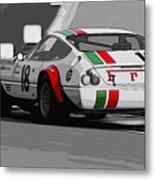 Ferrari Daytona 365 Gtb4 - Italian Flag Livery Metal Print