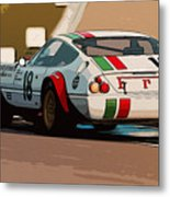 Ferrari Daytona - Italian Flag Livery Metal Print