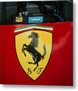 Ferrari F1 Sidepod Emblem Metal Print