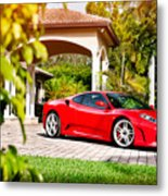 Ferrari F430 On Adv1 Wheels 2 Metal Print