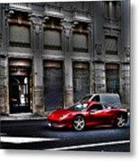 Ferrari In Rome Metal Print
