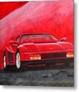 Ferrari Testarrossa Metal Print
