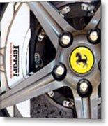 Ferrari Wheel Op 121915 Metal Print