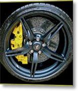 Ferrari Wheel Metal Print