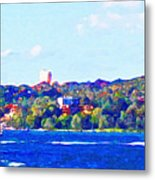 Ferries In The Harbor Metal Print