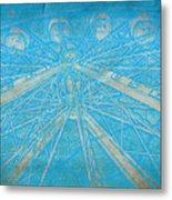 Ferris Sketch Metal Print