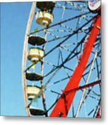 Ferris Wheel Closeup Metal Print