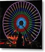 Ferris Wheel In Wildwood New Jersey Metal Print
