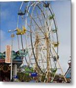 Ferris Wheel Santa Cruz Boardwalk Metal Print