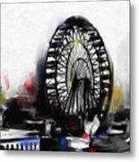 Ferris Wheel Tower Metal Print