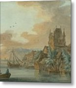 Ferry Across A River Metal Print