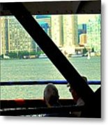 Ferry Across The Harbor Metal Print