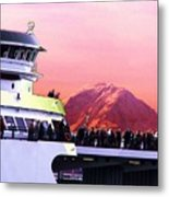 Ferry And Da Mountain Metal Print
