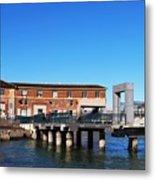 Ferry Building And Pinnacle Building - San Francisco Embarcadero Metal Print